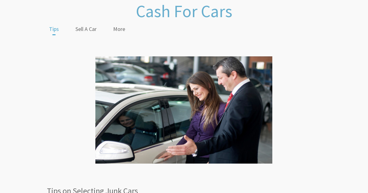 Cash For Cars - Sell A Car